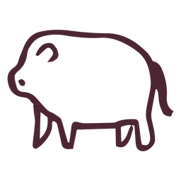 Egyptian traditional hippopotamus symbol