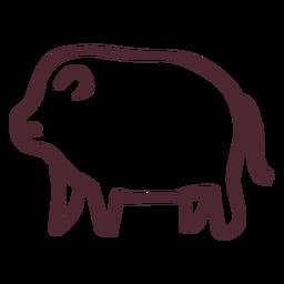 Hipopótamo tradicional egipcio símbolo