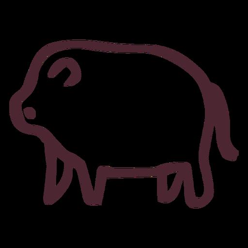 Egyptian traditional hippopotamus symbol Transparent PNG