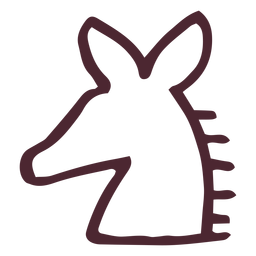 Egyptian traditional horse symbol
