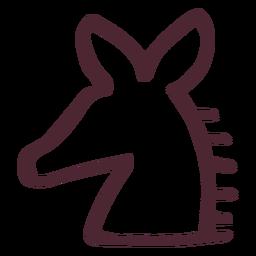 Símbolo de caballo tradicional egipcio
