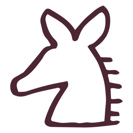 Egyptian traditional horse symbol Transparent PNG