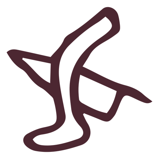 Egyptian traditional leg and knife symbol Transparent PNG