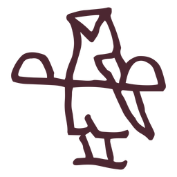 Símbolo de coruja tradicional egípcia