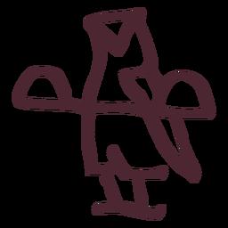 Símbolo del búho tradicional egipcio