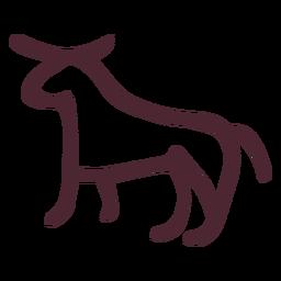 Símbolo de símbolo de carnero tradicional egipcio