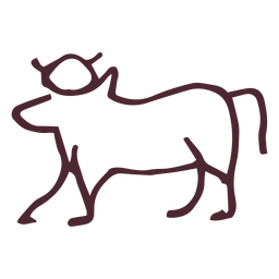 Símbolo de la vaca sagrada tradicional egipcia