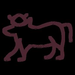 Símbolo de vaca sagrada tradicional egípcia