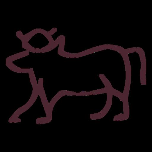 Símbolo de vaca sagrada tradicional egípcia Transparent PNG