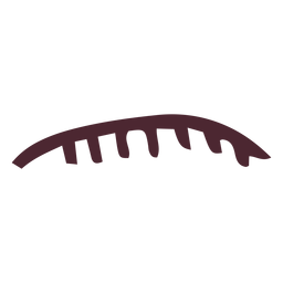Ägyptische Oberlippe mit Zahnhieroglyphensymbol
