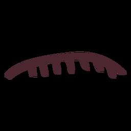 Labio superior egipcio con símbolo jeroglífico de dientes.