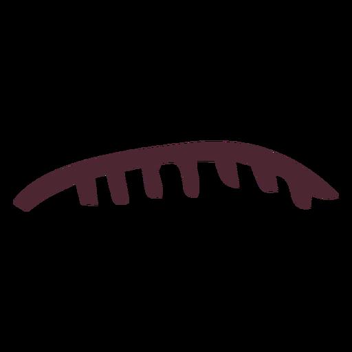 Egyptian upper lip with teeth hieroglyphics symbol Transparent PNG
