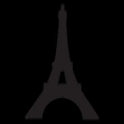 Silueta de la torre eiffel