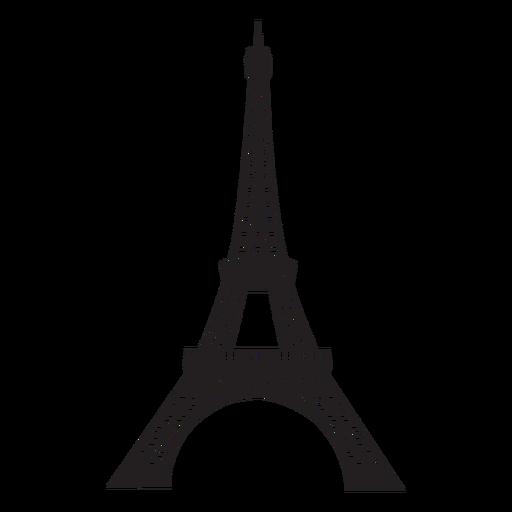 Silueta de la torre eiffel Transparent PNG