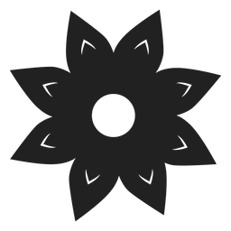 Vector de flor de ocho pétalos