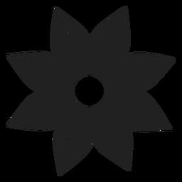 Vektor mit acht Blütenblättern