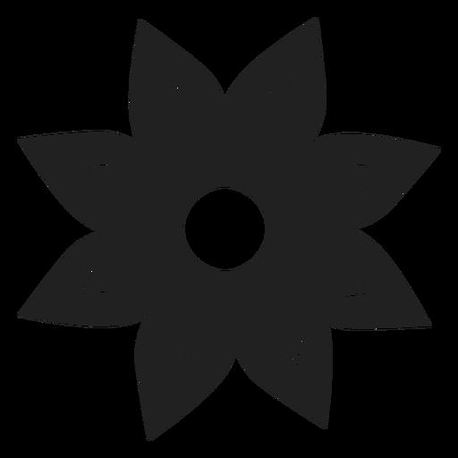 Eight petal flower vector Transparent PNG
