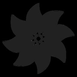 Vektor mit acht Blumenblättern