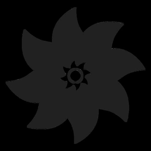 Eight petals flower vector