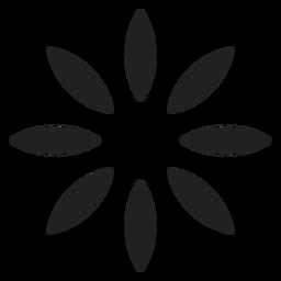 Acht Blütenblätter umreißen Symbol