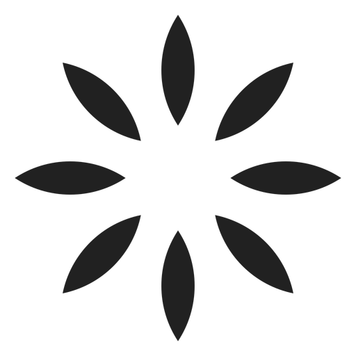 Eight petals outline icon Transparent PNG