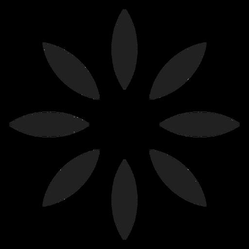 Icono de contorno de ocho p?talos