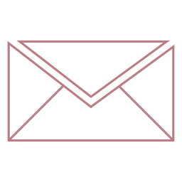 Envelope line style vector icon