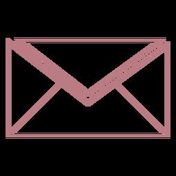 Icono de vector de estilo de línea de sobre