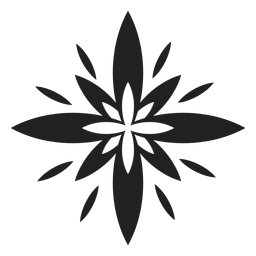 Exotic multi petal flower icon