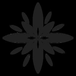Icono de flor exótica multi pétalo