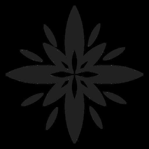 Icono de flor exótica multi pétalo Transparent PNG