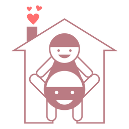 Family home line style vector