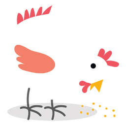 Farm pecking chicken vector