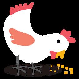 Granja picoteando vector de pollo