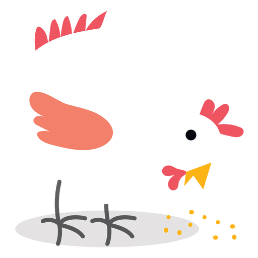 Farm pecking chicken vector Transparent PNG