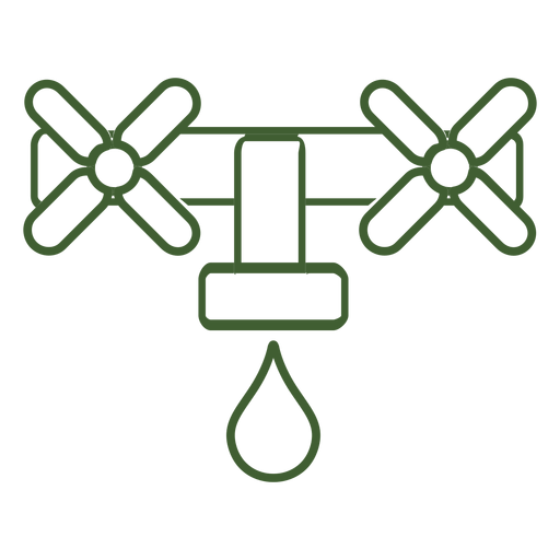 Icono de gota de agua del grifo Transparent PNG