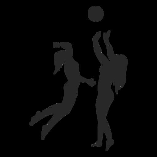 Silueta femenina de jugadores de voleibol Transparent PNG