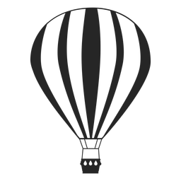 Festive air balloon silhouette