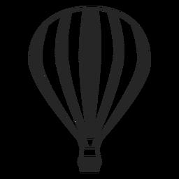 Silhueta de balão de ar festivo