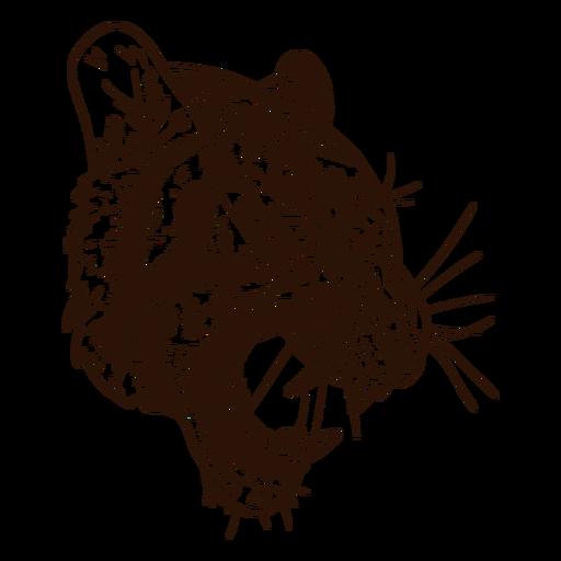 Fierce tiger hand drawn Transparent PNG