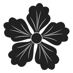 Symbol mit fünf Blütenblättern