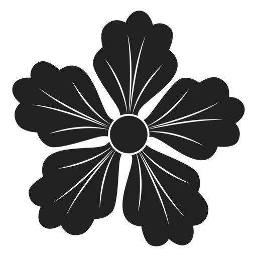 Five petals flower icon Transparent PNG