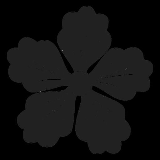 Icono de flor de cinco p?talos