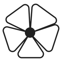 Five petals flower vector