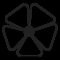 Vektor mit fünf Blütenblättern