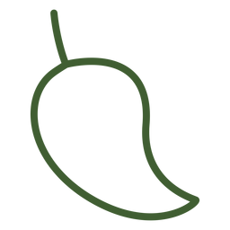 Flache Mango-Obst-Symbol