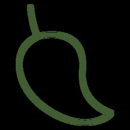 Ícone de manga fruta plana