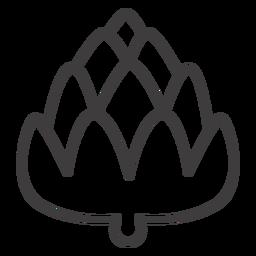 Icono de bellota plana