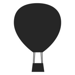 Flat air balloon icon