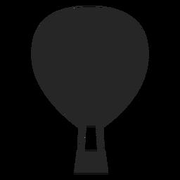 Ícone de balão de ar liso